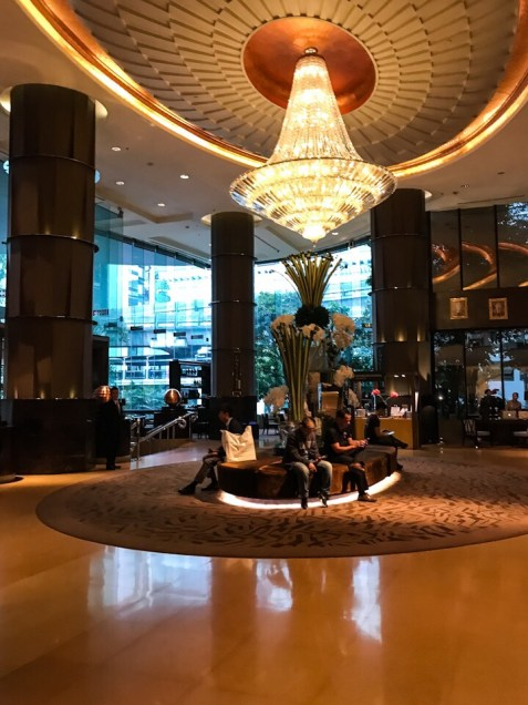 Lobby of the Intercontinental Hotel in Bangkok Thailand