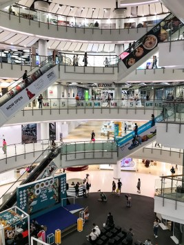 Inside CentralWorld in Bangkok Thailand