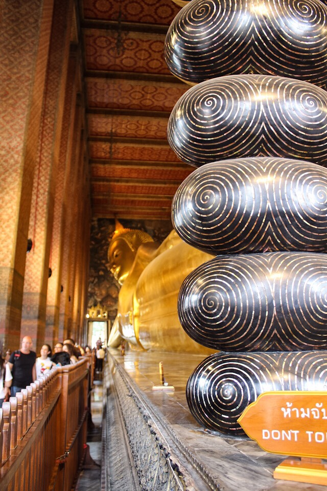 Reclining Buddha at Wat Pho in Bangkok Thailand