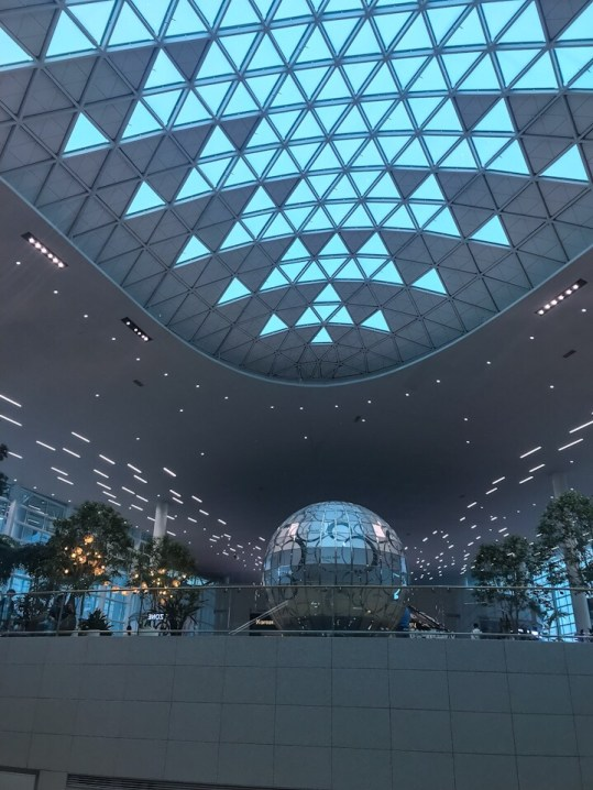 Inside the Incheon Airport in Seoul, South Korea