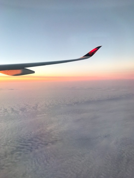 The sky while flying somewhere over Russia