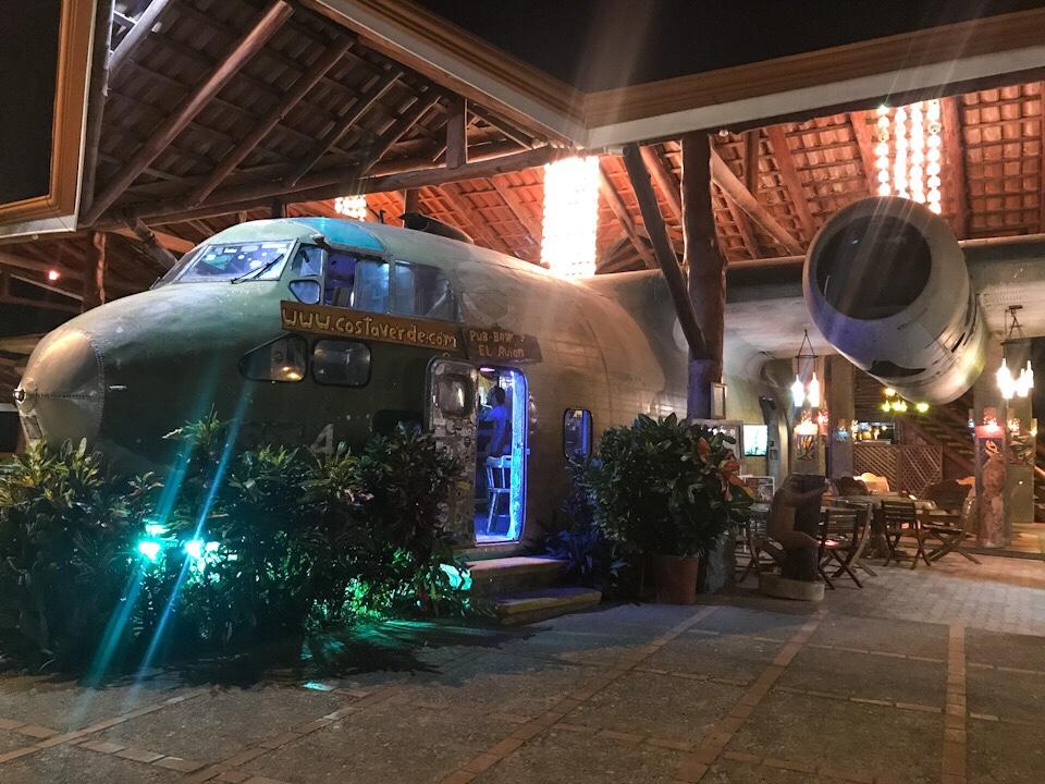 The plane at El Avion in Manuel Antonio Costa Rica