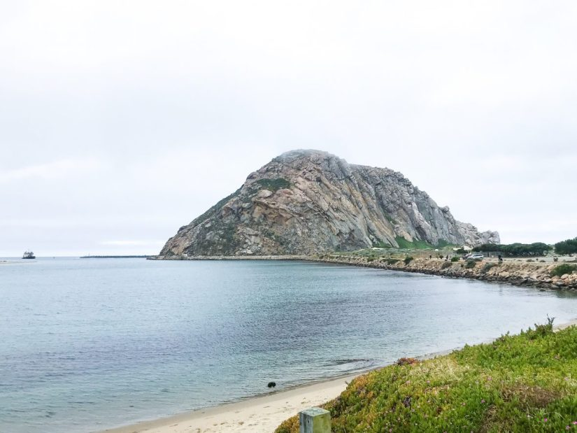 Morro Rock at Morro Bay in California
