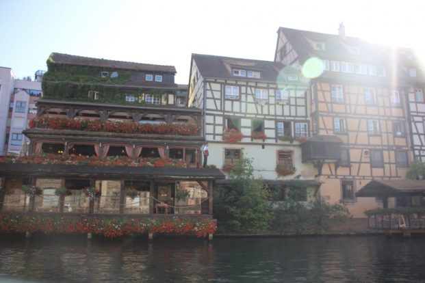 View from the river in Strasbourg, France