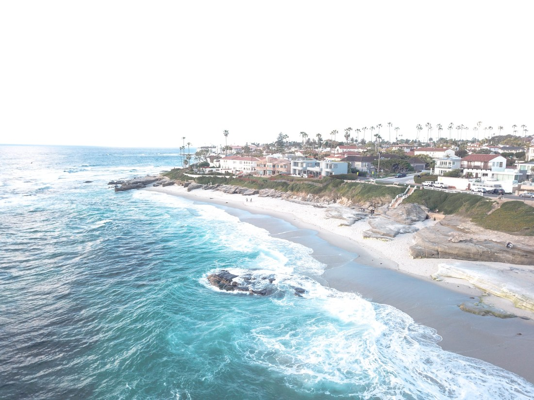 La Jolla California drone shot