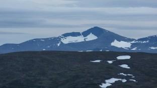 Utsikt över Helagsfjället från Gåsenstugorna