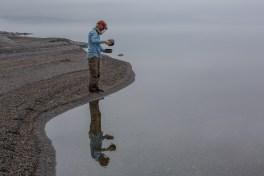 Hämtar vatten i Kallsjön