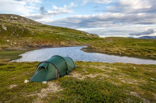 Vår tältplats på Ottfjället
