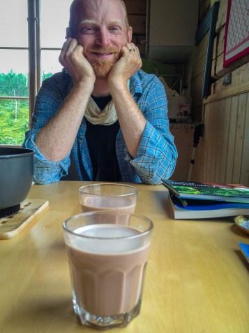 Varm choklad i Tjåkkelestugan