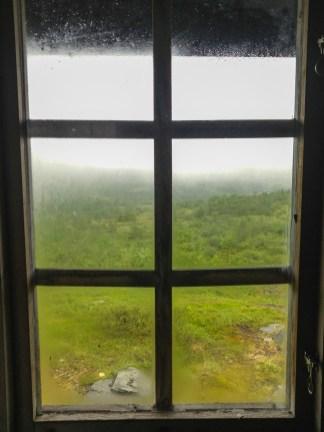 Utsikt från raststugan Lillfjället