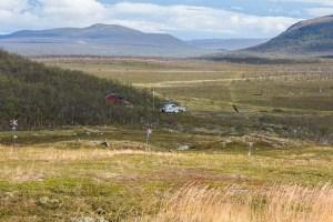 Melitärhelikoptern vid Östra Pältsastugan