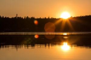 Solnedgång över Lillsjön