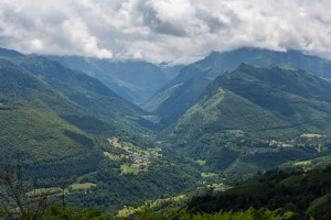 En av dalarna man kunde se från toppen