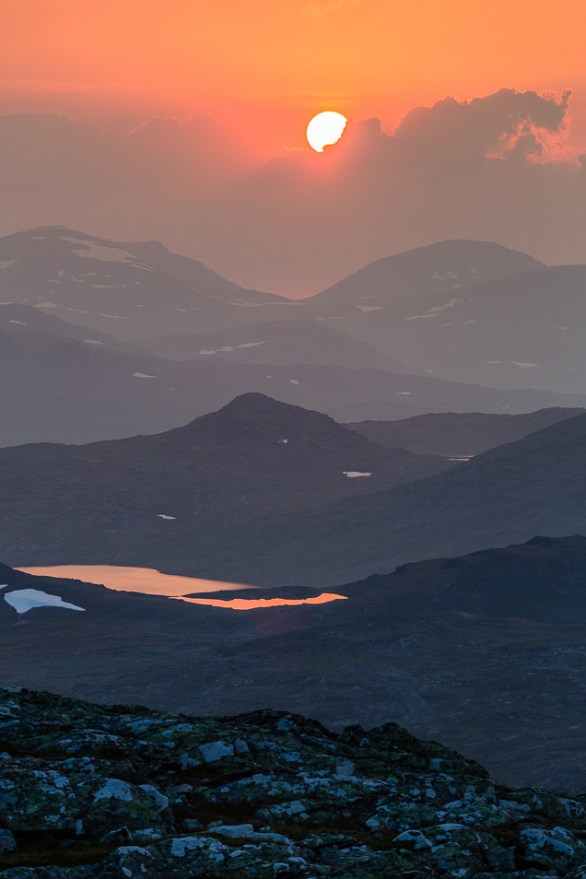 Orangerosa solnedgång