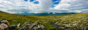Från platån ner mot Tarradalen
