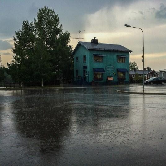 Regn i Jokkmokk