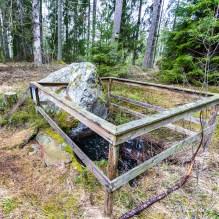 En kallkälla vid gamla gården vid Landviken