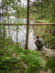 C fotograferar Södra Boksjön