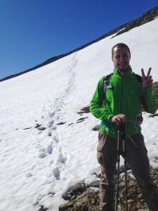 C har korsat snöfältet