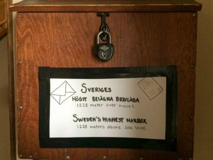 Sveriges högst belägna brevlåda