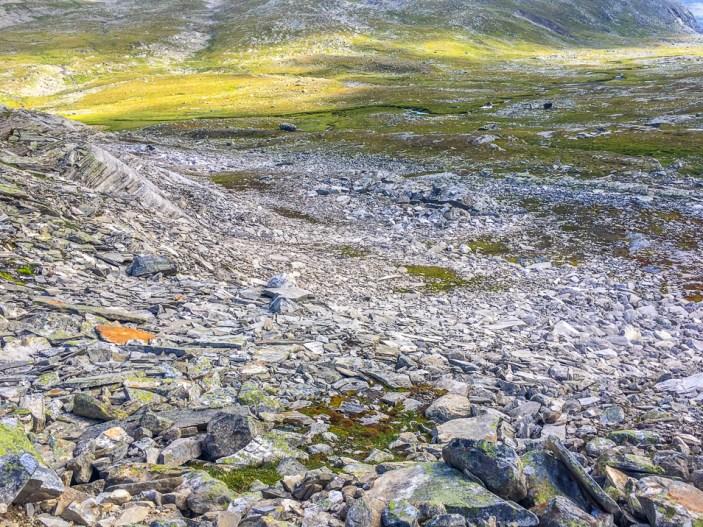 Stenig uppstigning från Vájmokvágge