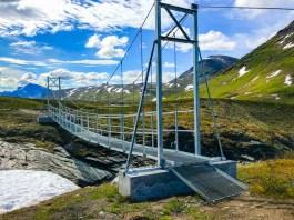 LeTrek Kungsleden Tjäktjavagge Gaskkasjohka bro