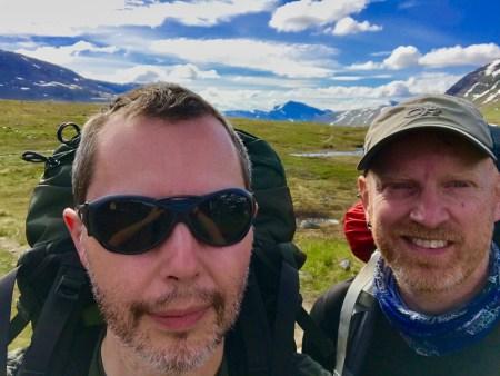 LeTrek selfie Tjäktjavagge Kungsleden