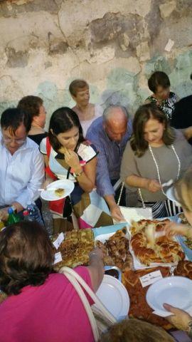 Il buffet di piatti tratti dal libro e dalla tradizione siciliana