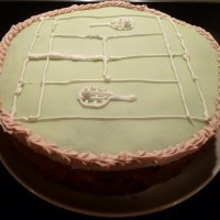 Mary Berry's Victorian tennis court cake - nightmare at the net
