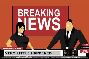 Cartoon of breaking news