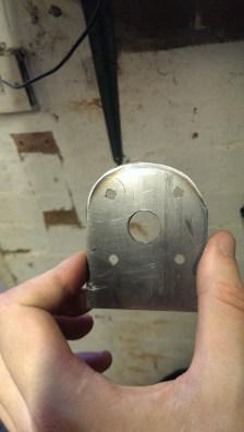 Neaten up the mounting plate