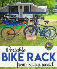 Homemade Portable Bike Rack Made with Scrap Wood