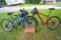 Homemade Portable Bike Rack Made with Scrap Wood