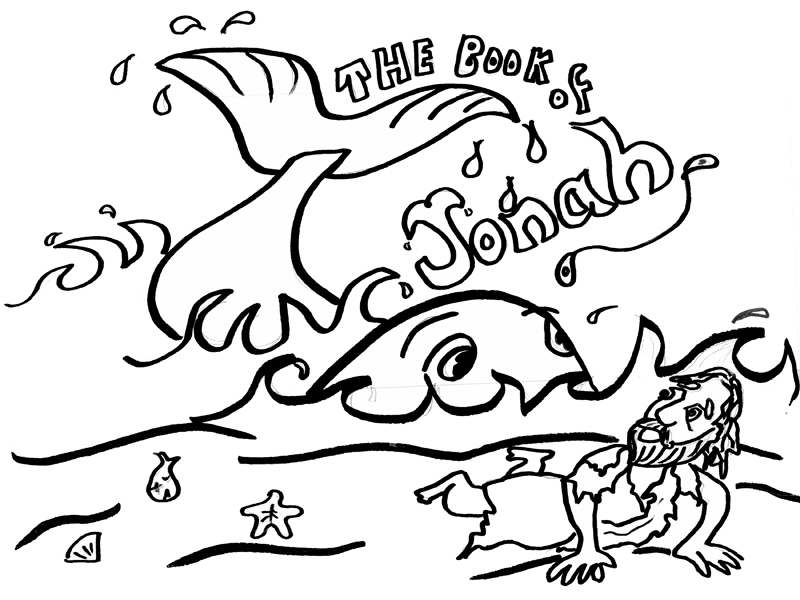 Free coloring pages of jonah the whale