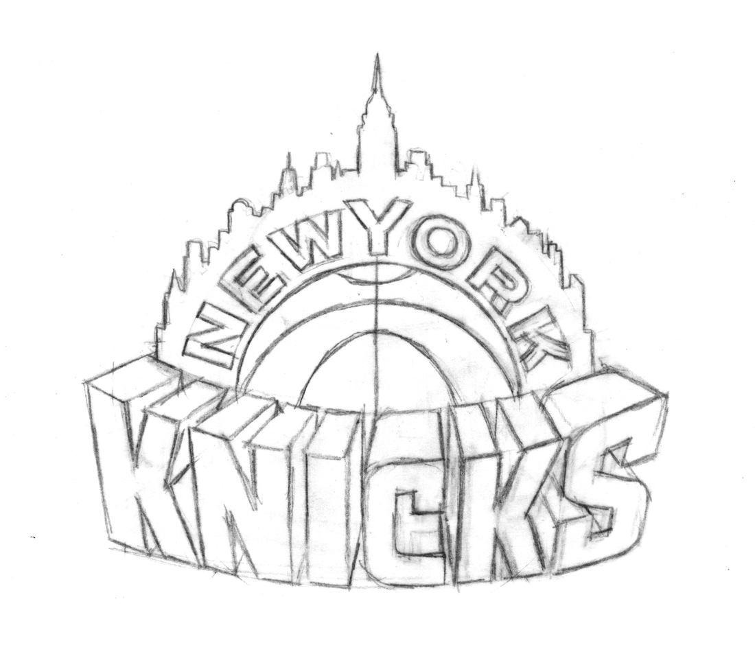 Knicks New York Nba Logo Free Coloring Pages