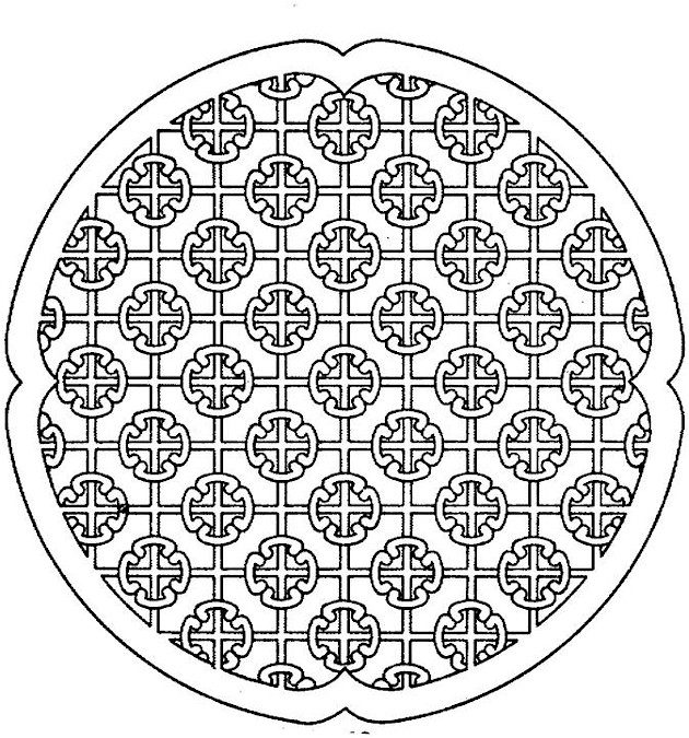 Space circle Free Printable Adult Coloring Pages