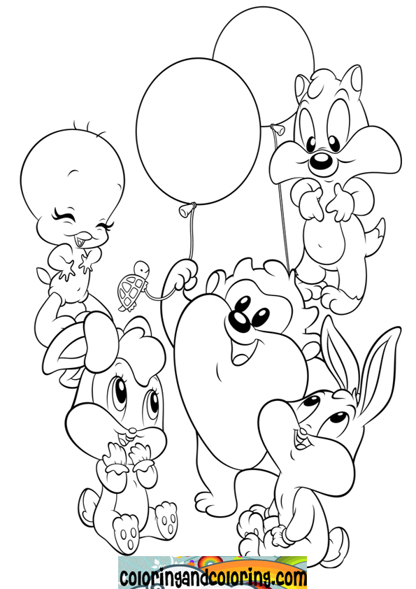 Free Baby looney tunes coloring pages , letscoloringpages