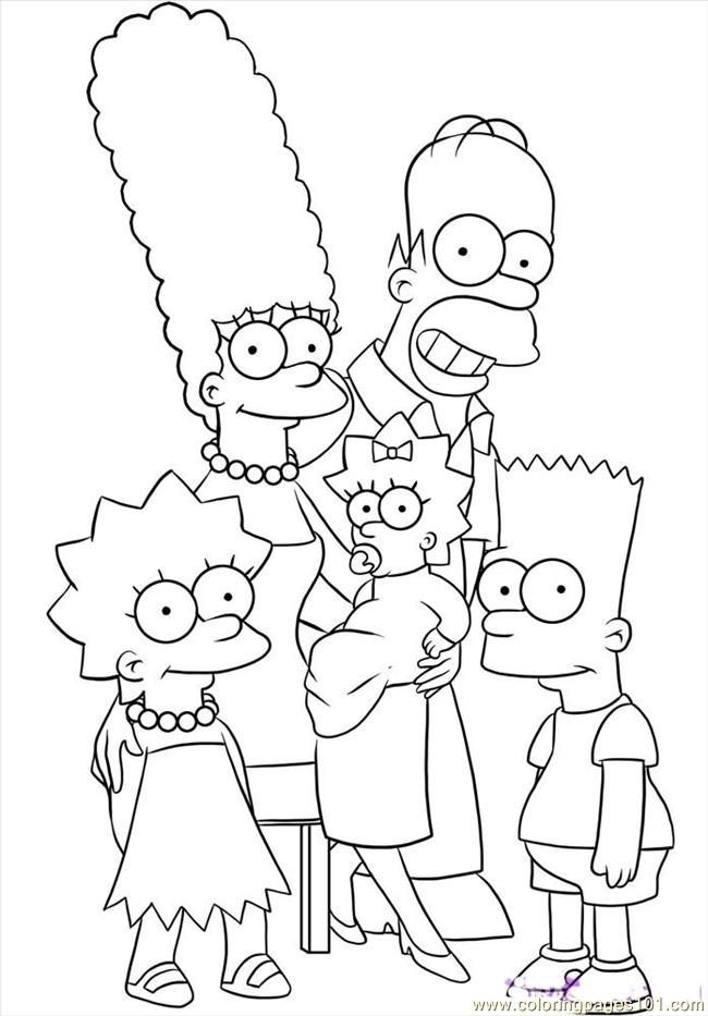 Free Simpsons coloring pages , letscoloringpages.com