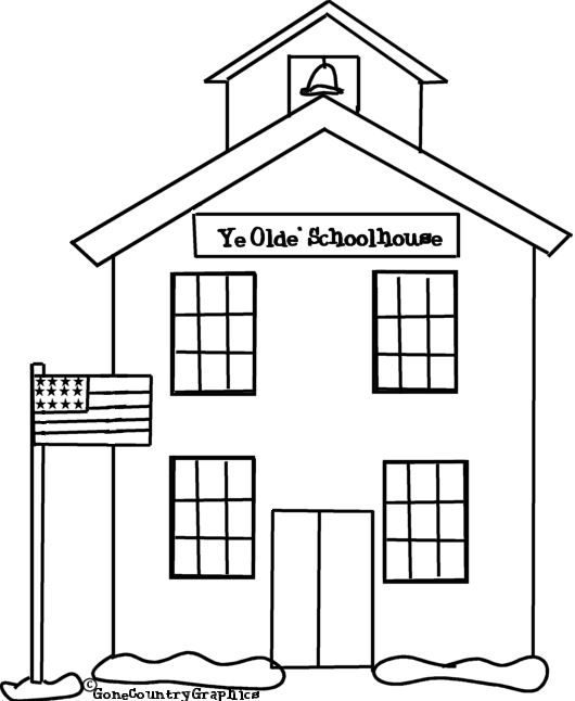 School House coloring pages, Coloring for kids, House Free