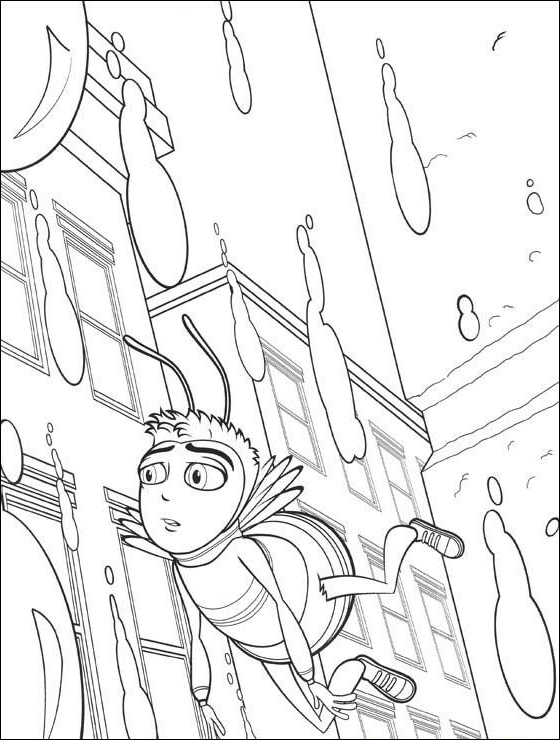 Bee Movie Rain coloring pages Free Printable Coloring