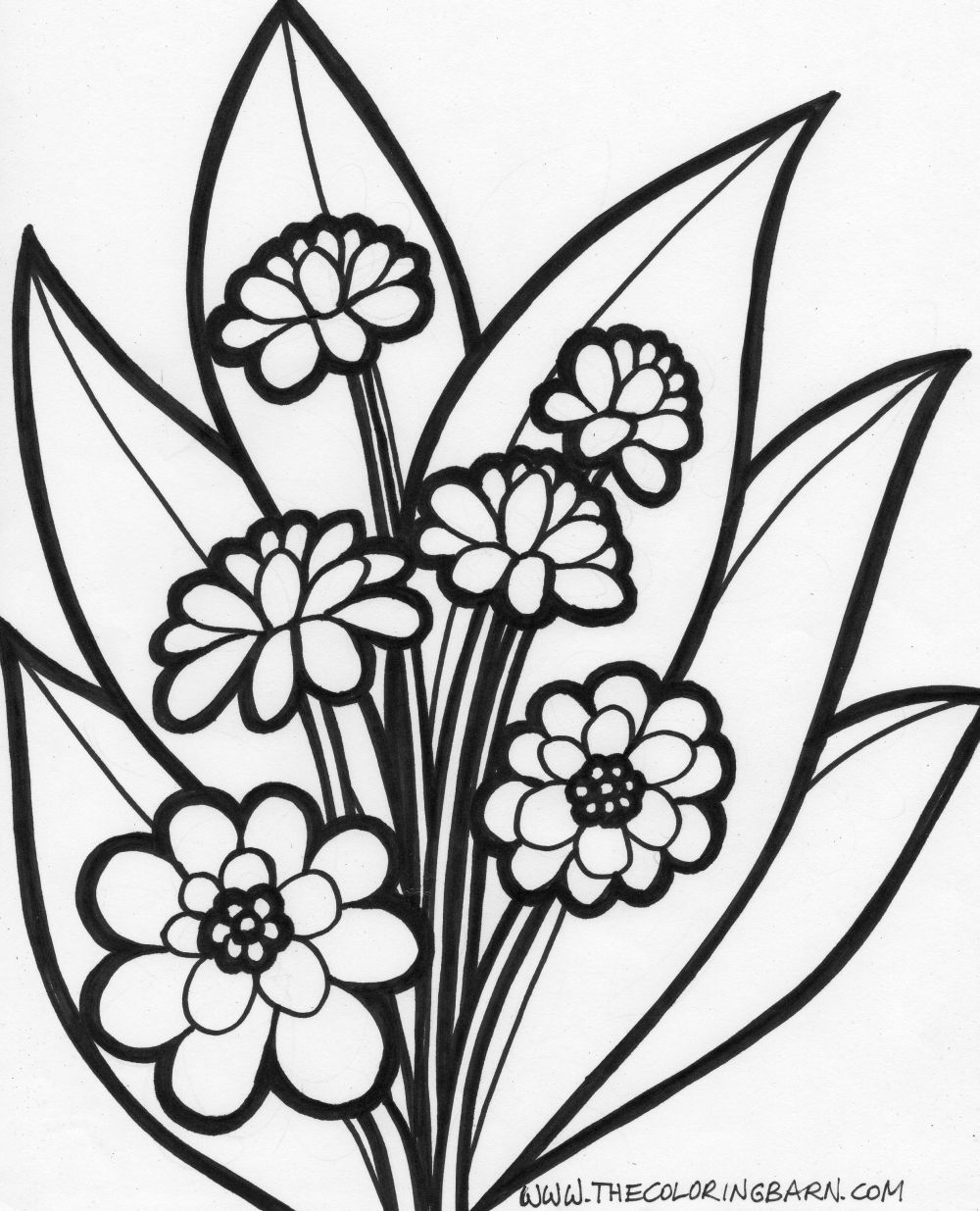 Flowers Coloring Pages Color Printing Flower Coloring Pages Free 25 Free Printable Coloring Pages For Kids Colouring Pages Coloring Pages Of Cars Barbie Coloring Pages