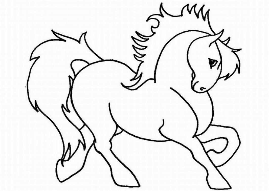 Horse Coloring pages for Girls Free Printable Coloring