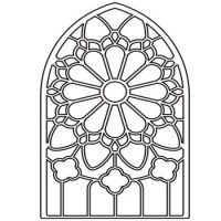 Glass Stained Glass Coloring pages Free Printable Coloring ...