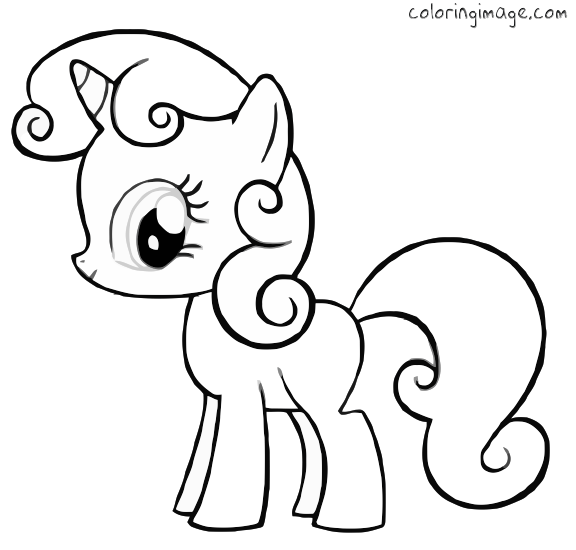 My Little Pony Coloring Pages BABY PONY Free Printable