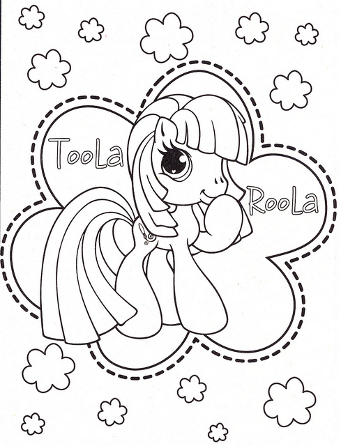 My Little Pony Coloring Pages CUTE TOOLA ROOLA Free