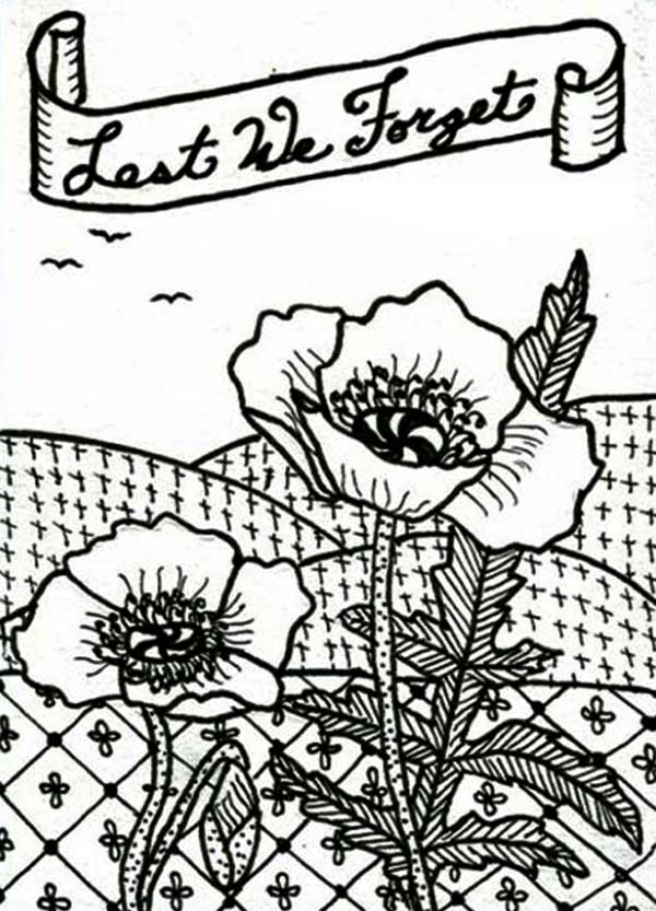 Free remembrance day coloring pages