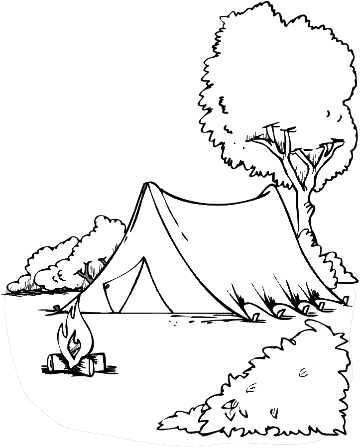 Camping Coloring Page Coloring Pages To Print Color