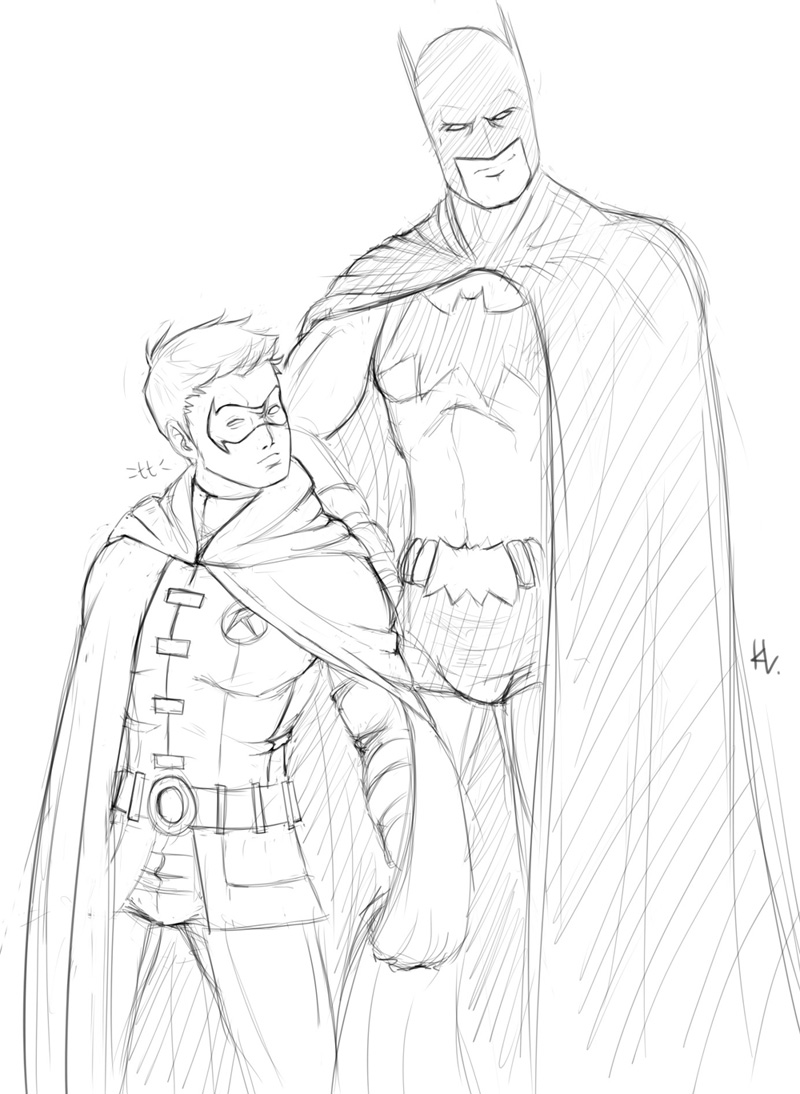 Little Robin Batman Coloring Pages Free Printable Coloring