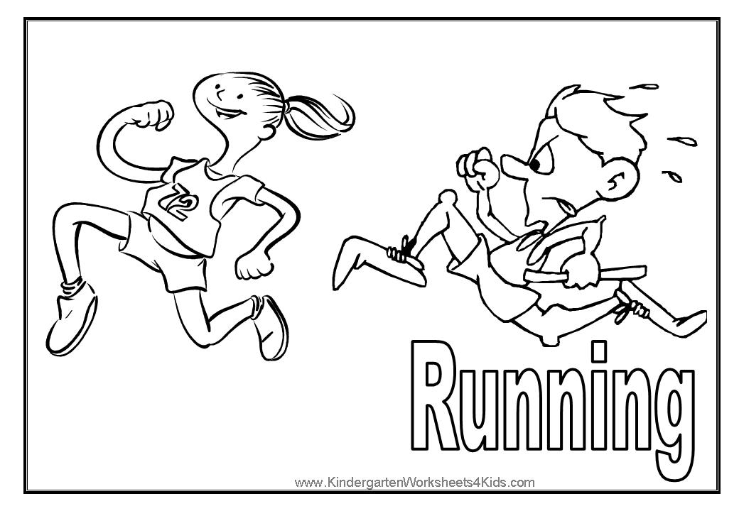 Running Girl Sports Coloring pages for GIRLS Free