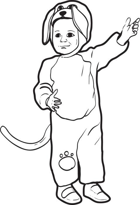 Little Dog Halloween Costumes Print Coloring Pages Free